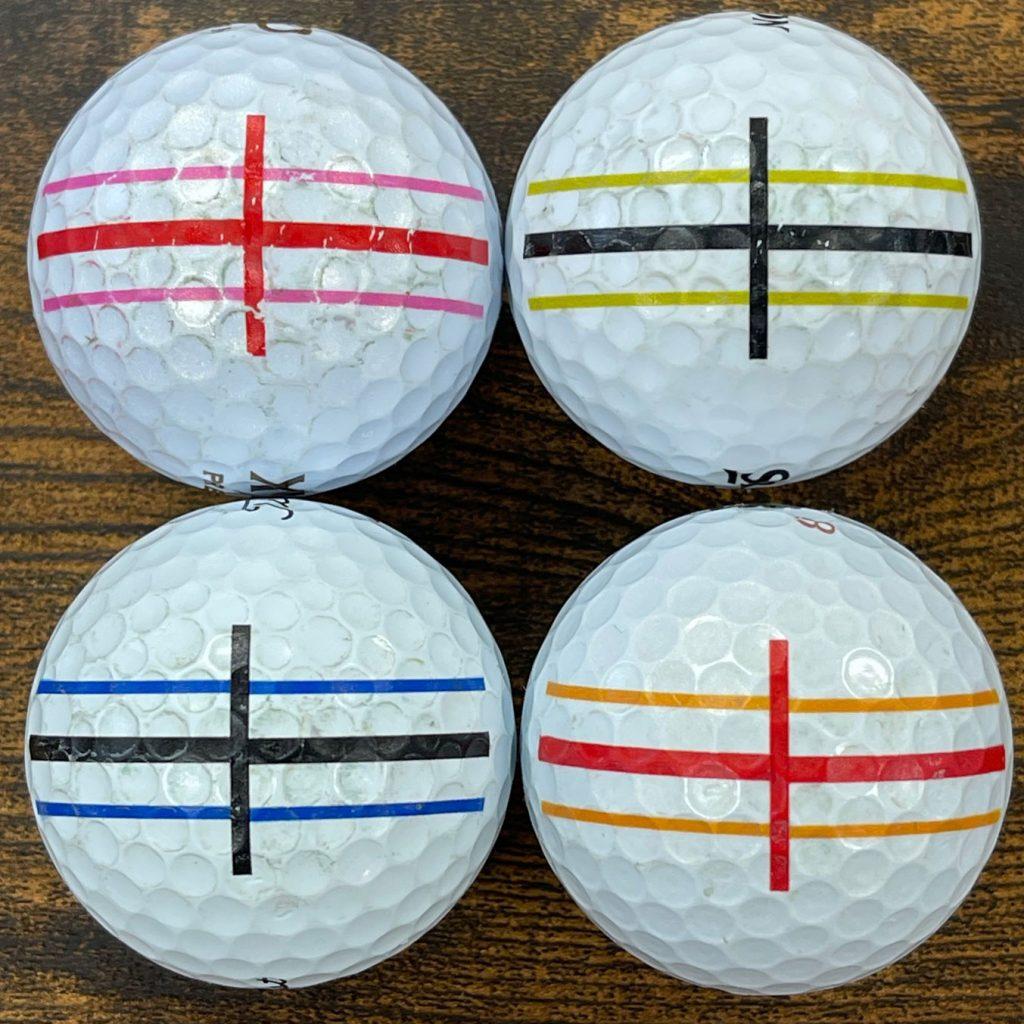 ゴルフボール印刷強度テスト3回目