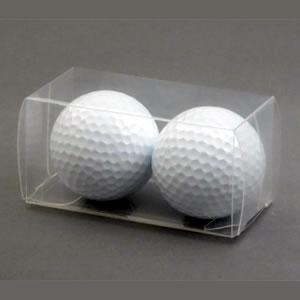 ゴルフボール透明2個箱