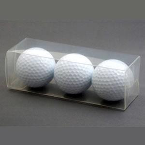 ゴルフボール透明3個箱