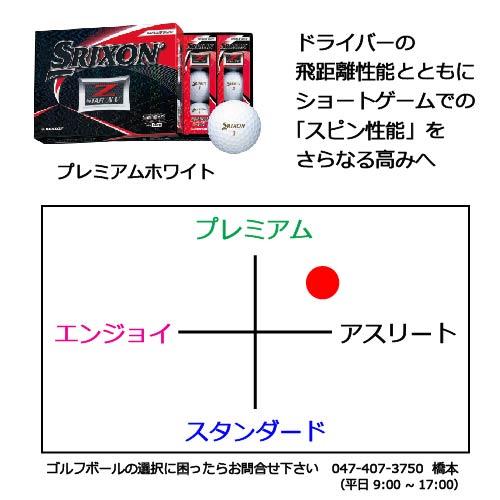 スリクソンZ-STARXVゴルフボールの商品説明