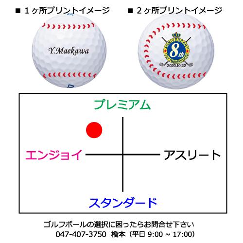 ゼクシオイレブン ベースボールデザインゴルフボールの商品説明
