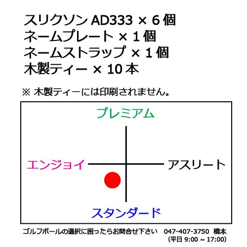 ゴルフボールギフトN スリクソンAD333の商品説明