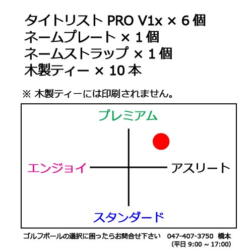 名入れボールギフトセットN タイトリスト PRO V1xの商品説明