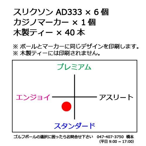 ゴルフボールギフトT スリクソンAD333の商品説明