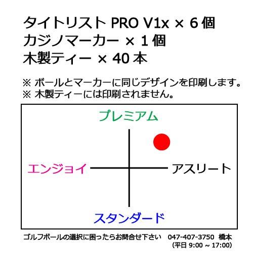 ゴルフボールギフトセットTタイトリスト PRO V1xの商品説明