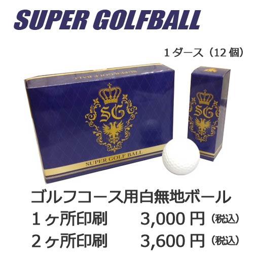 名入れゴルフボール専用白無地ボール12個入り