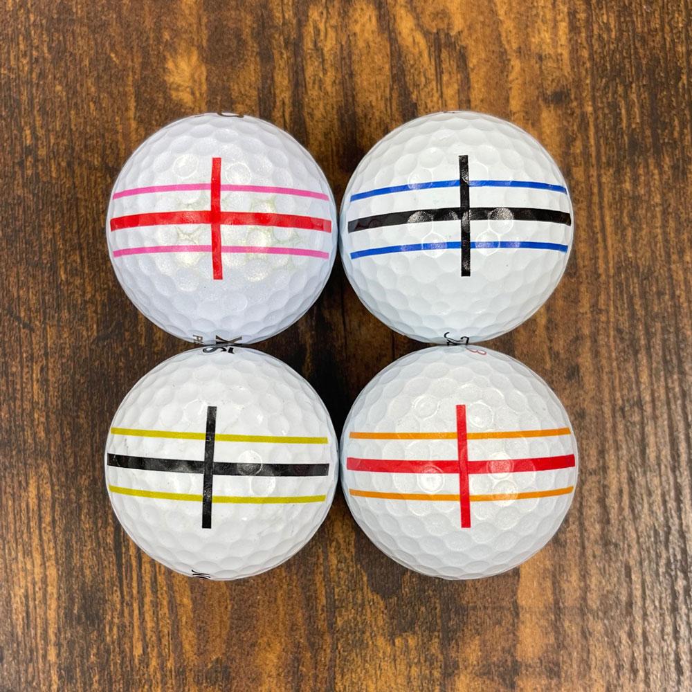 ゴルフボール印刷強度テスト1回目